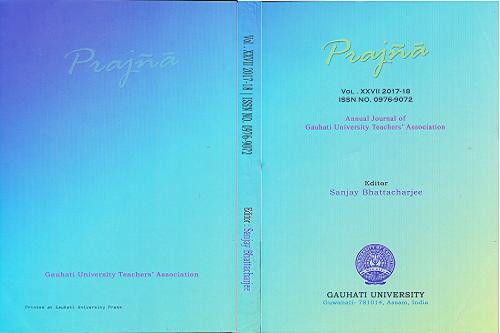 Prjñã Journal Edited by Badan Barman